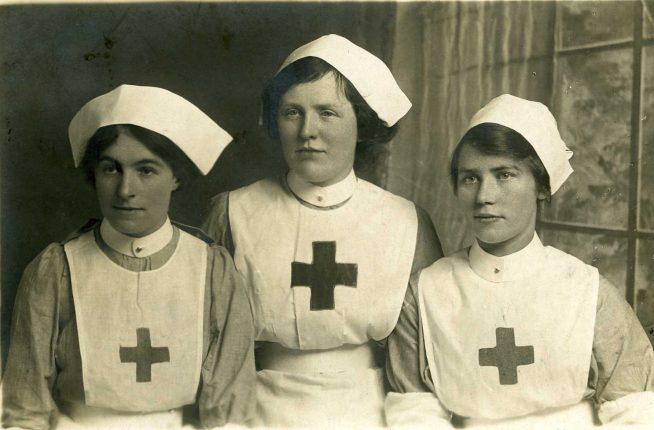 WWI three Red Cross nurses